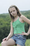 Young model posing in summer season Royalty Free Stock Photography