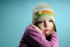 Young model presenting spring collection Stock Photography