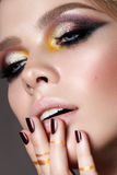 Young model with professional make up royalty free stock photos