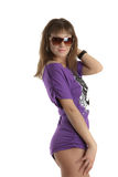 Young model in sunglasses Stock Images