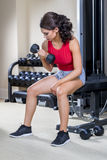 Young Model Working Out Stock Photo
