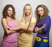Young models in colorful dress Royalty Free Stock Photos