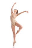 Young modern ballet dancer isolated on white background Stock Photography