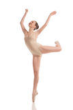 Young modern ballet dancer isolated on white Royalty Free Stock Photo