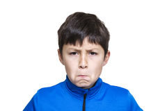 Young modern boy pulls funny face Stock Image