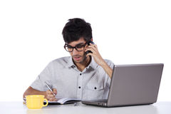 Young modern busy businessman Stock Image