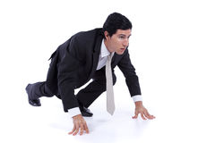 Young modern busy businessman Royalty Free Stock Photography