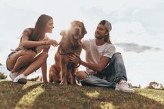 Lucky to be together. Stock Photos
