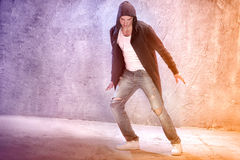 Young modern dancer. Young male modern dancer dancing royalty free stock photos