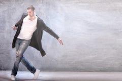 Young modern dancer. Young male modern dancer dancing stock photos