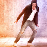 Young modern dancer. Young male modern dancer dancing royalty free stock image