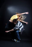 Young modern dancers. In action Royalty Free Stock Photography