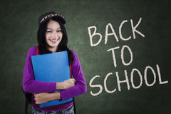 Young modern girl back to school Royalty Free Stock Photo