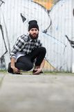 Young modern man with beard Stock Photography