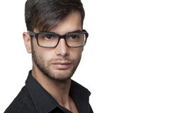 Young modern man with glasses Royalty Free Stock Images