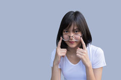Young modern woman wearing glasses portrait Royalty Free Stock Images