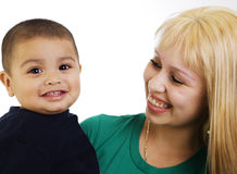 Young mom and son Royalty Free Stock Photos