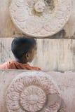 Bodhgaya, India, Young Monk at Mahabodhi temple Royalty Free Stock Photo