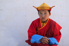 Young Monk Stock Photo