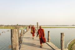 Young monk at Mahagandayon Monastery Royalty Free Stock Photo