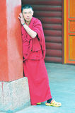 Young Monk in Tibet Royalty Free Stock Images