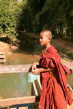 Young monk at the weekly market at Indein on Inle Lake in Myanma Stock Photography