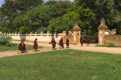 Young monks in Bagan Myanmar Stock Photo