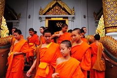 Young monks in Buddhist monasteries Stock Images