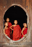 Young monks in myanmar Royalty Free Stock Image