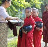 Young Monks Myanmar Burma Stock Photo