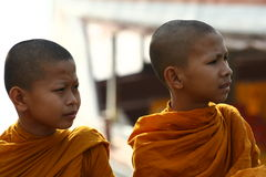 Young monks in Thailand Stock Photos