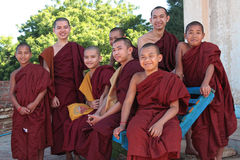 Young Monks visit Bagan Stock Images