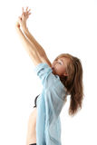 Young morning girl stretching Stock Images