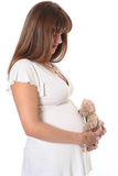 Young mother. Happy young mother waiting a baby Stock Photo