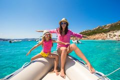 Young mother with adorable daughter enjoy vacation Royalty Free Stock Photography