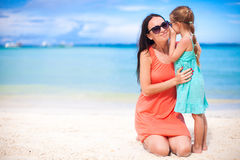 Young mother and adorable little daughter have fun Royalty Free Stock Photos