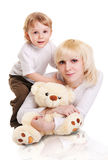 Young Mother And Little Son Stock Photography