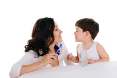 Young Mother And The Boy Royalty Free Stock Images