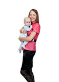 Young mother with a baby Stock Photo