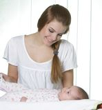 Young mother with baby Royalty Free Stock Image