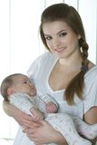 Young mother with baby Stock Photography