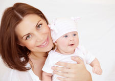 Young mother with baby boy Royalty Free Stock Images