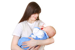 Young Mother and Baby Royalty Free Stock Photos
