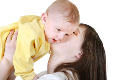 Young Mother and Baby Royalty Free Stock Images