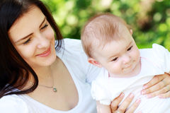 Young mother with baby Royalty Free Stock Images