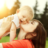 Young Mother and Baby Stock Photo