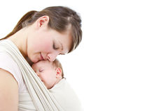 Carrying a baby Royalty Free Stock Images