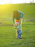 A young mother with a child. Royalty Free Stock Image