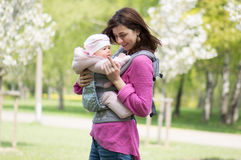 Young mother with a child Stock Photos