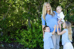 Young Mother and children Royalty Free Stock Photography